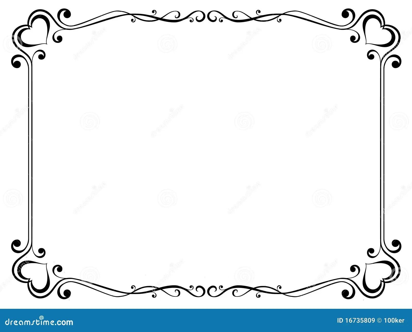 Frame Decorativo Com Coracao Ilustracao Do Vetor