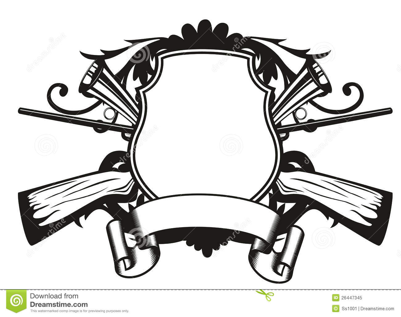 Frame Hunting Theme Royalty Free Stock Photo