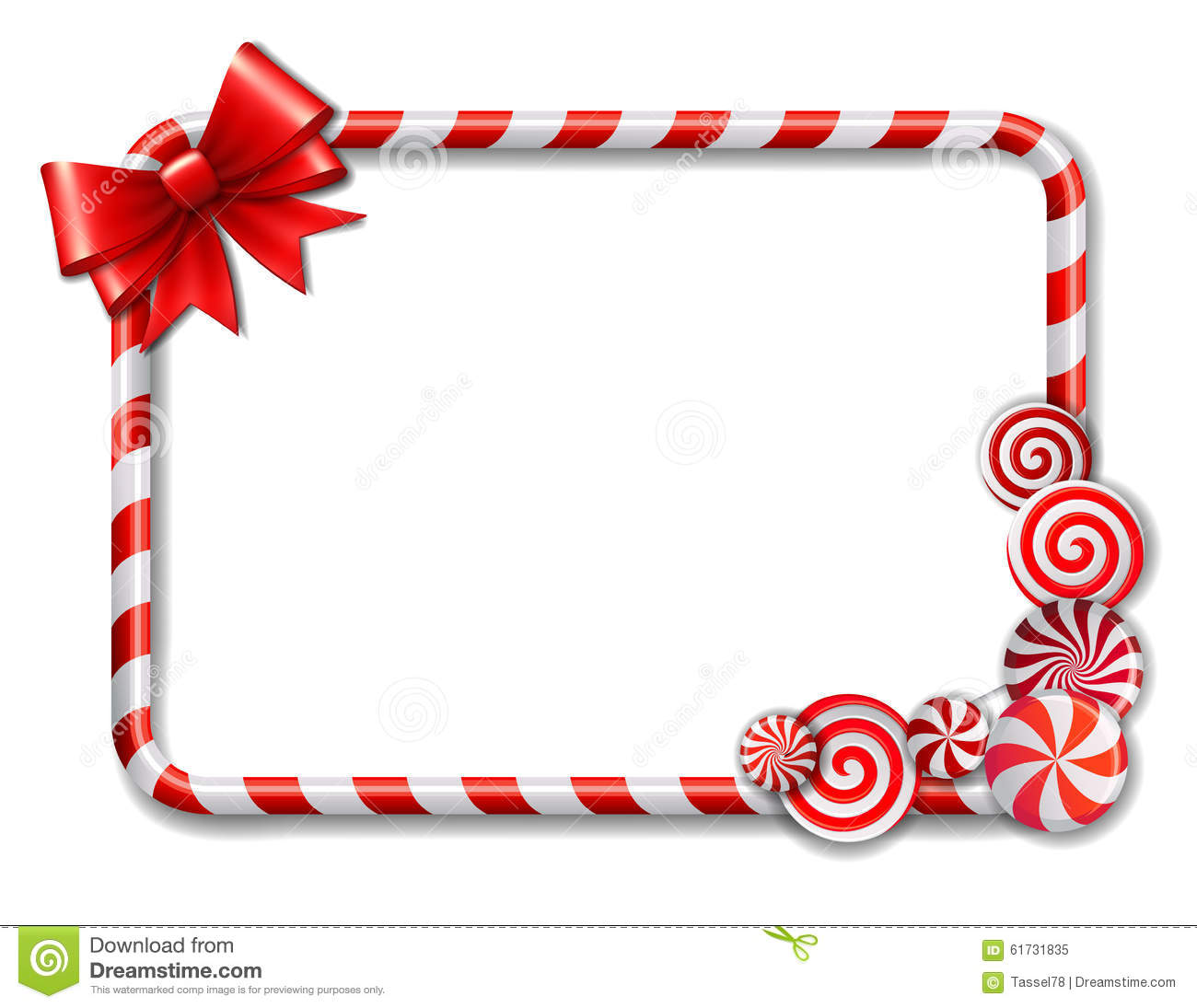 Frame Made Of Candy Cane Stock Vector Image Of Lollypop