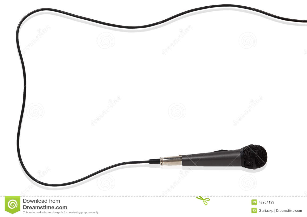 Frame Of The Microphone With Cord Stock Image