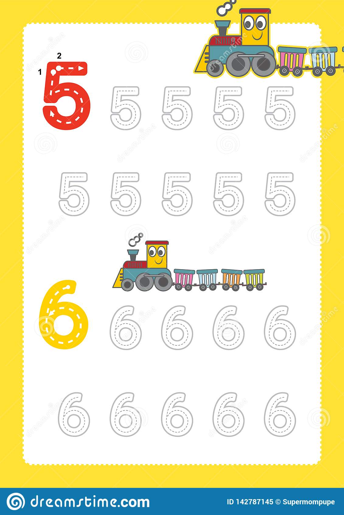 Free Handwriting Pages For Writing Numbers Learning