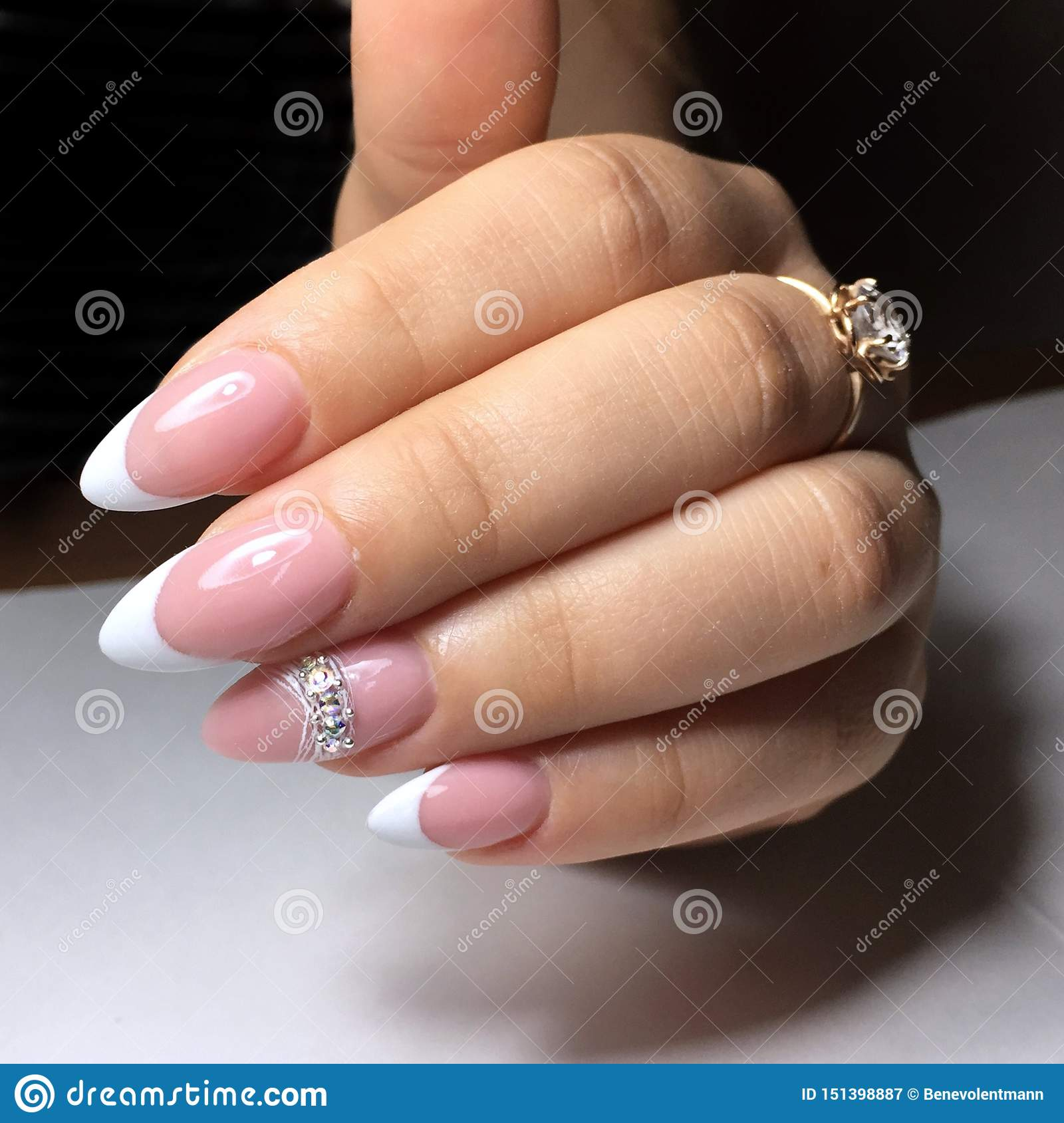 French Manicure On The Nails French Manicure Design Manicure Gel