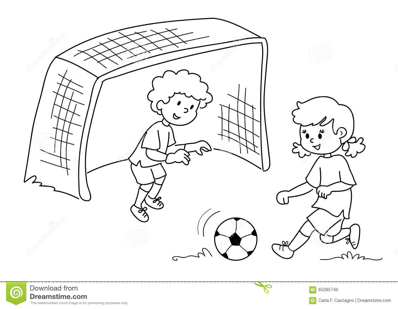 Friends Playing Soccer Vector Stock Vector