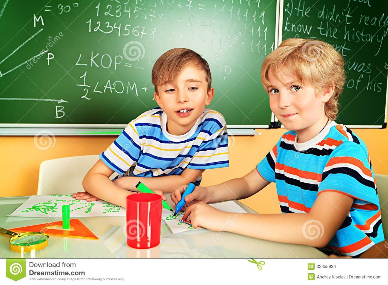 Friends Stock Photo Image Of Classroom Books Learn