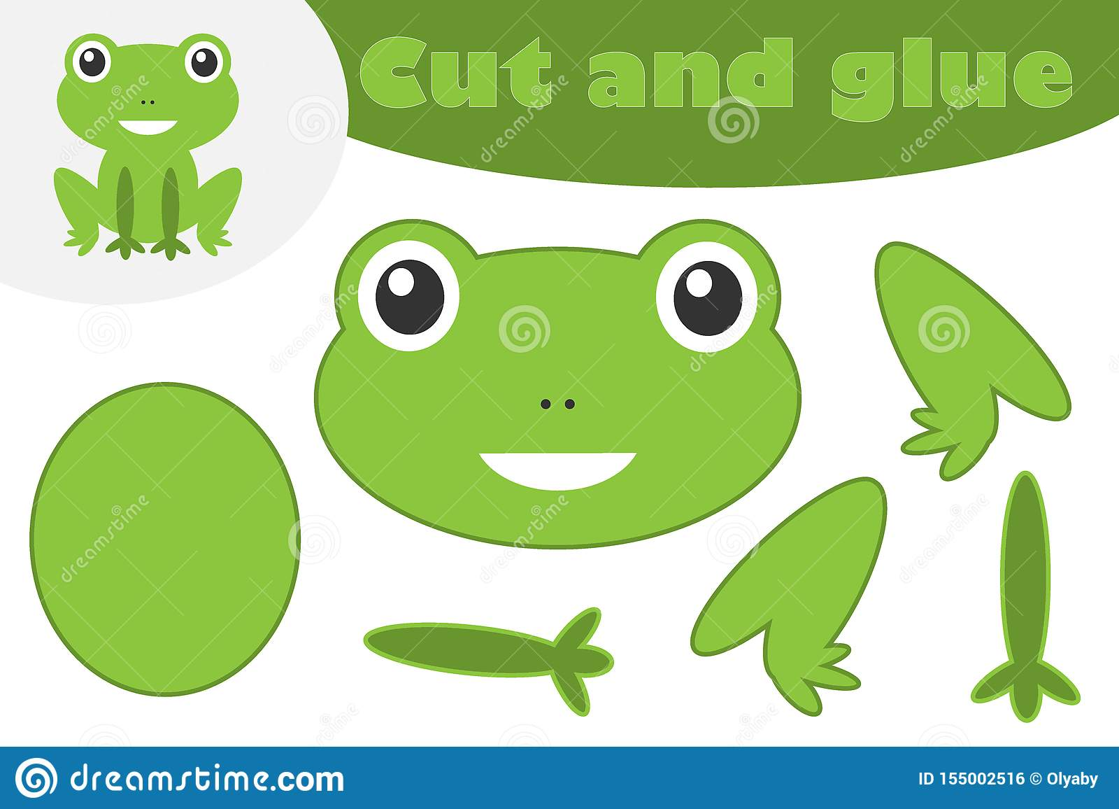Frog In Cartoon Style Education Game For The Development