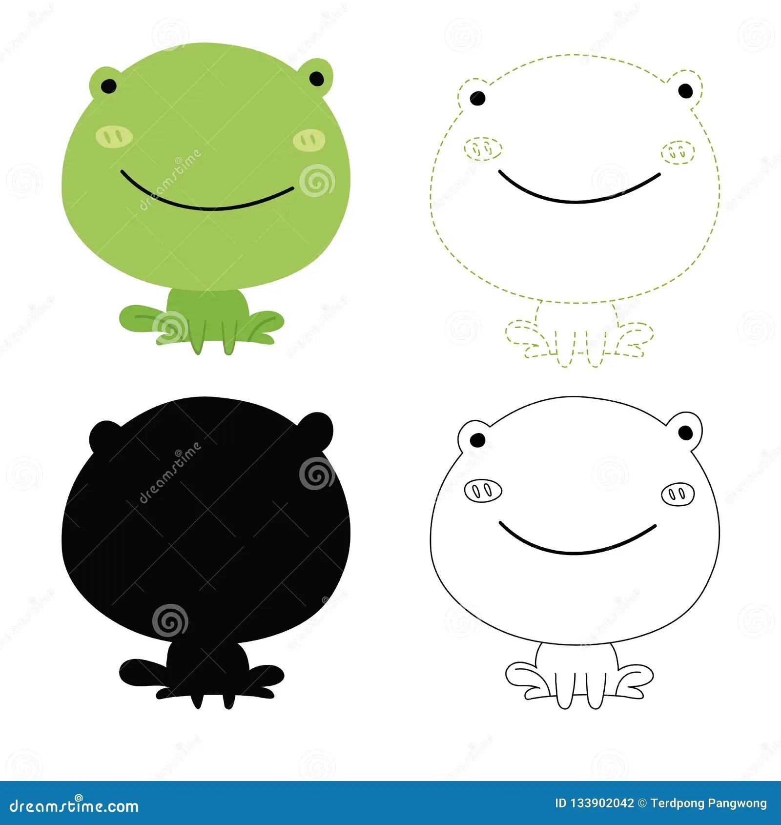 Frog Worksheet Vector Design Stock Vector