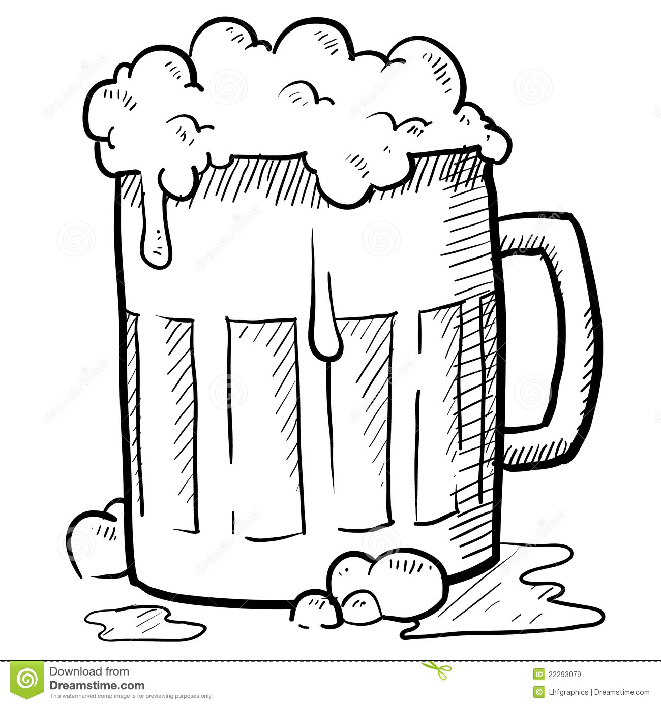 Frothy Beer Mug Stock Vector Image Of Alcohol Brew
