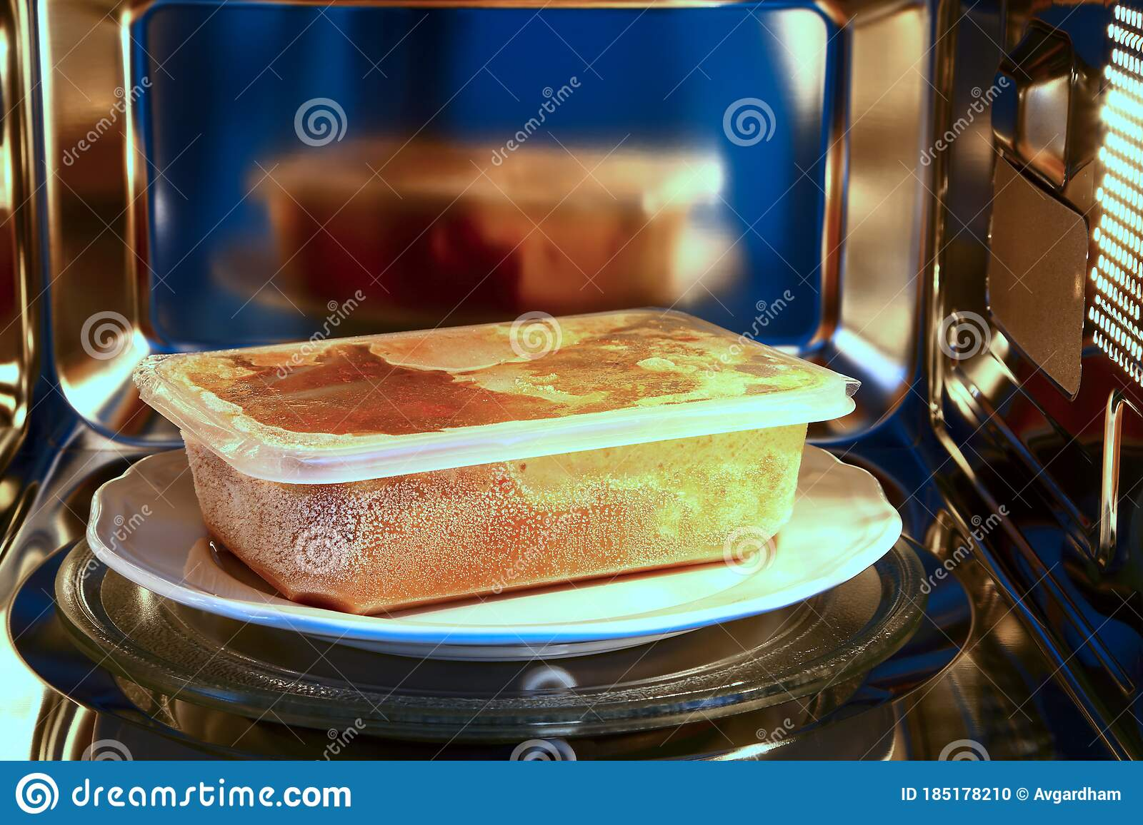 frozen curry ready meal ready to cook in a microwave oven stock photo image of cooked open 185178210