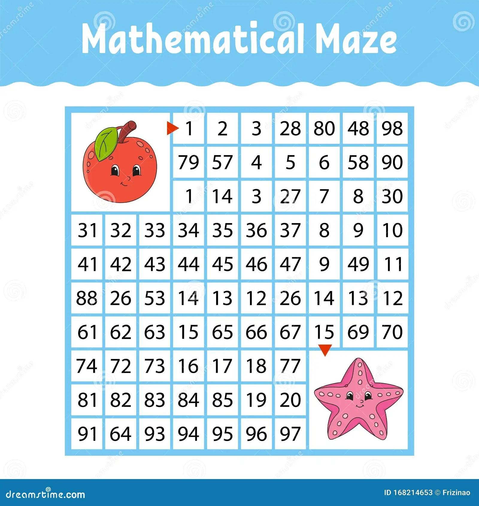 Fruit Apple Sea Starfish Mathematical Square Maze Game