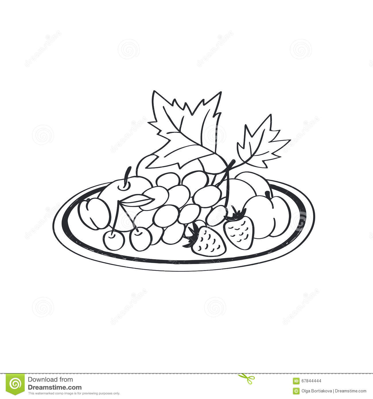 Fruits Vector Icon Stock Vector Illustration Of Graphic