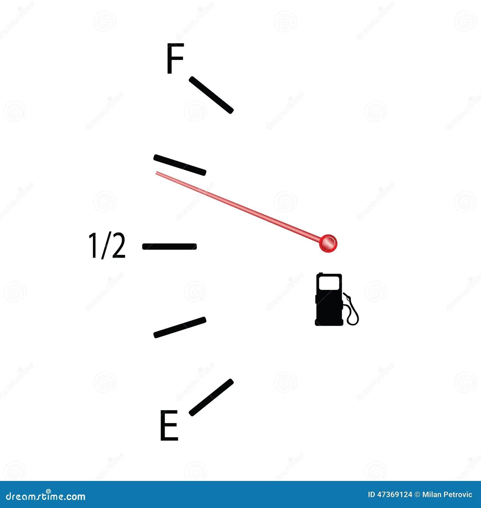 Fuel Gauge Vector Illustration With Symbol Stock Vector