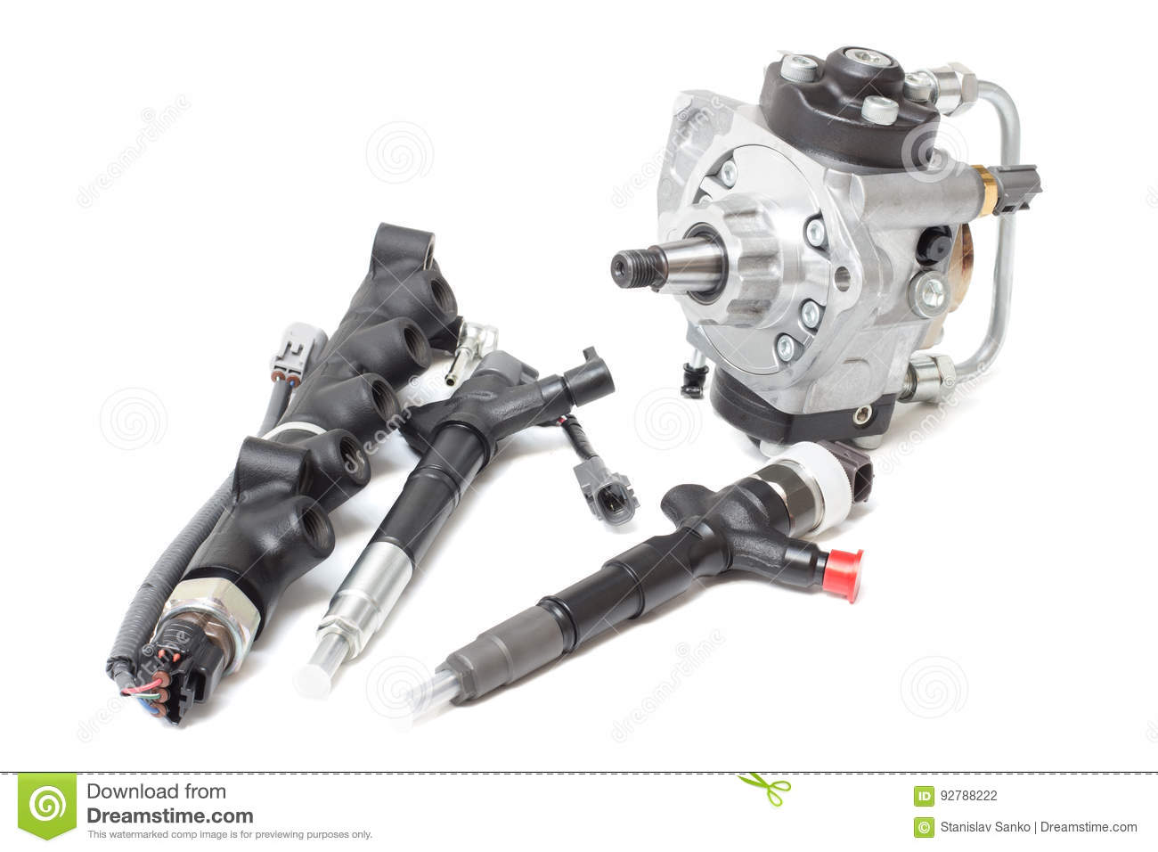 Fuel Injection And Fuel Pump Stock Photo