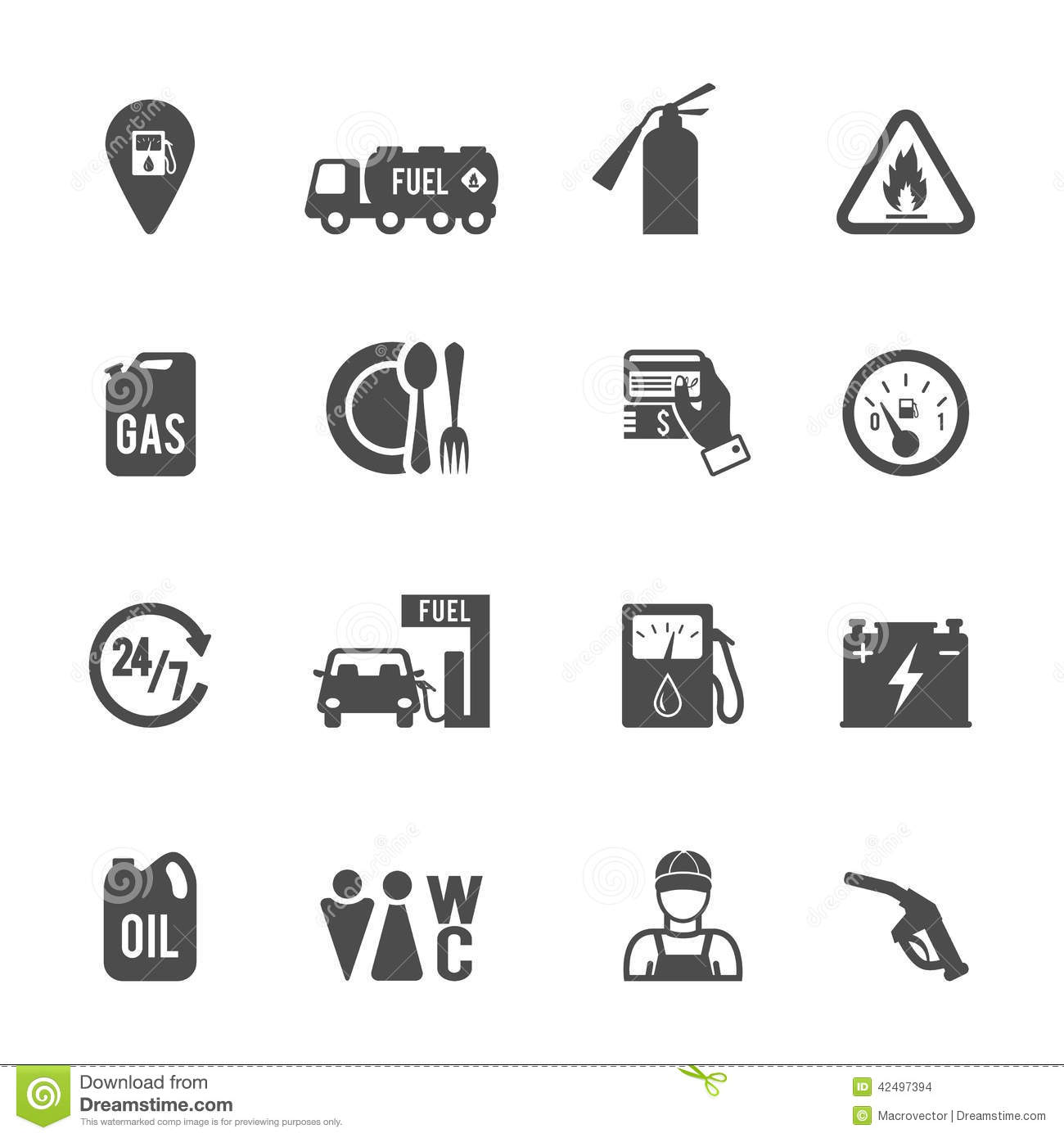 Fuel Pump Icons Set Stock Vector Illustration Of Computer