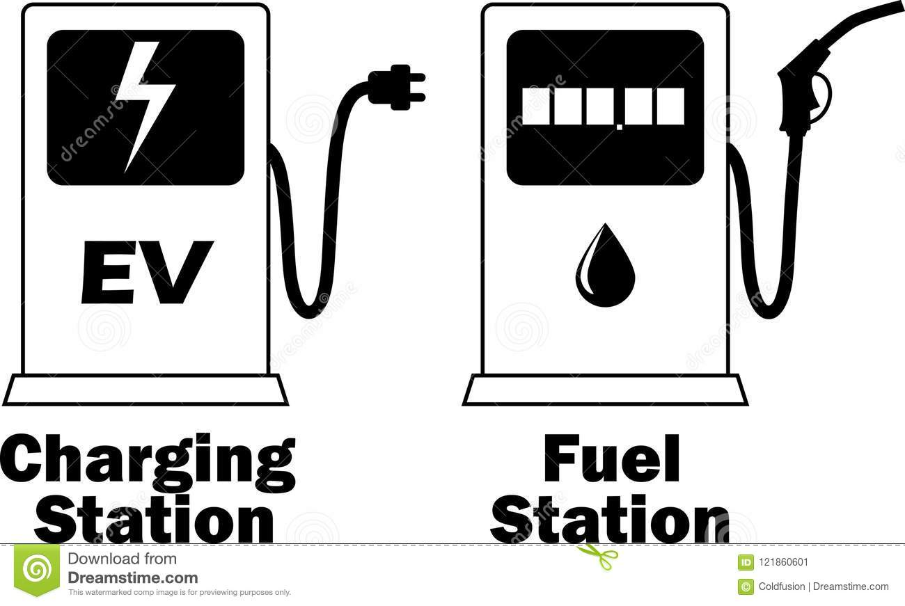 Fuel Station For Charging Electrical Vehicles And Gasoline