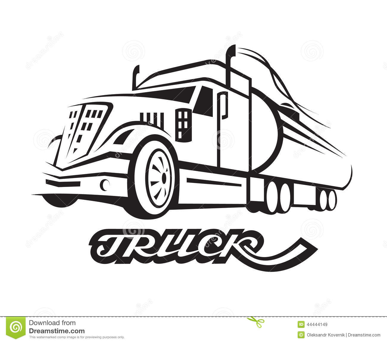 Fuel Truck Stock Vector