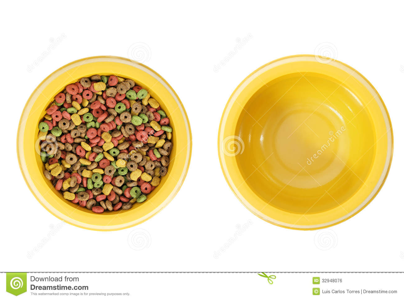 Full And Empty Dog Bowl Stock Photo Image Of Mixed Grain
