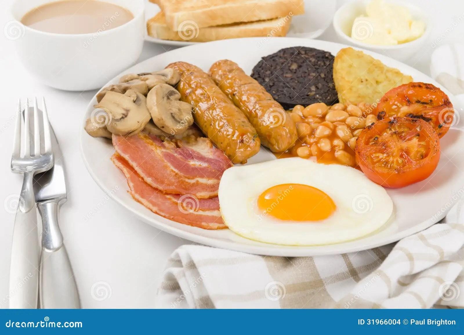 Full English Breakfast Stock Photo Image Of Breakfast