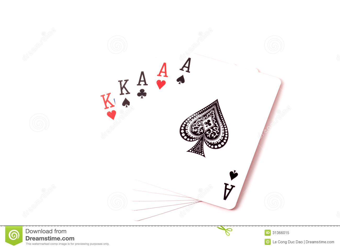 Full House Set Of Cards Stock Image Image Of