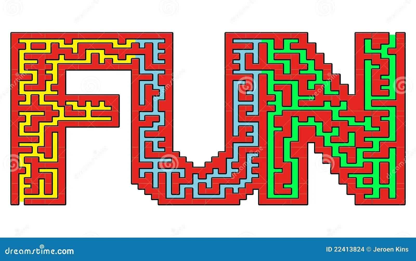 Fun Maze Stock Images