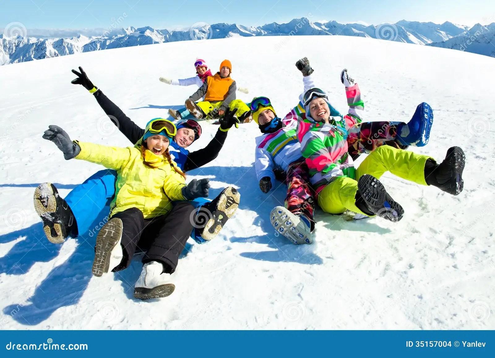 Fun Winter Holiday Stock Photo Image Of Skiing Happiness