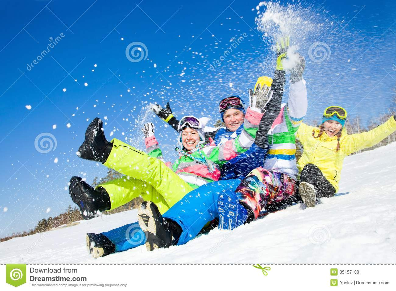 Fun Winter Holiday Stock Photo Image Of Rocky Adult