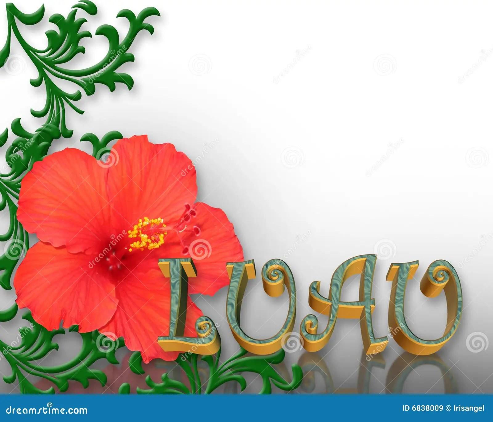 Fundo Do Hibiscus Do Convite De Luau Ilustrao Stock