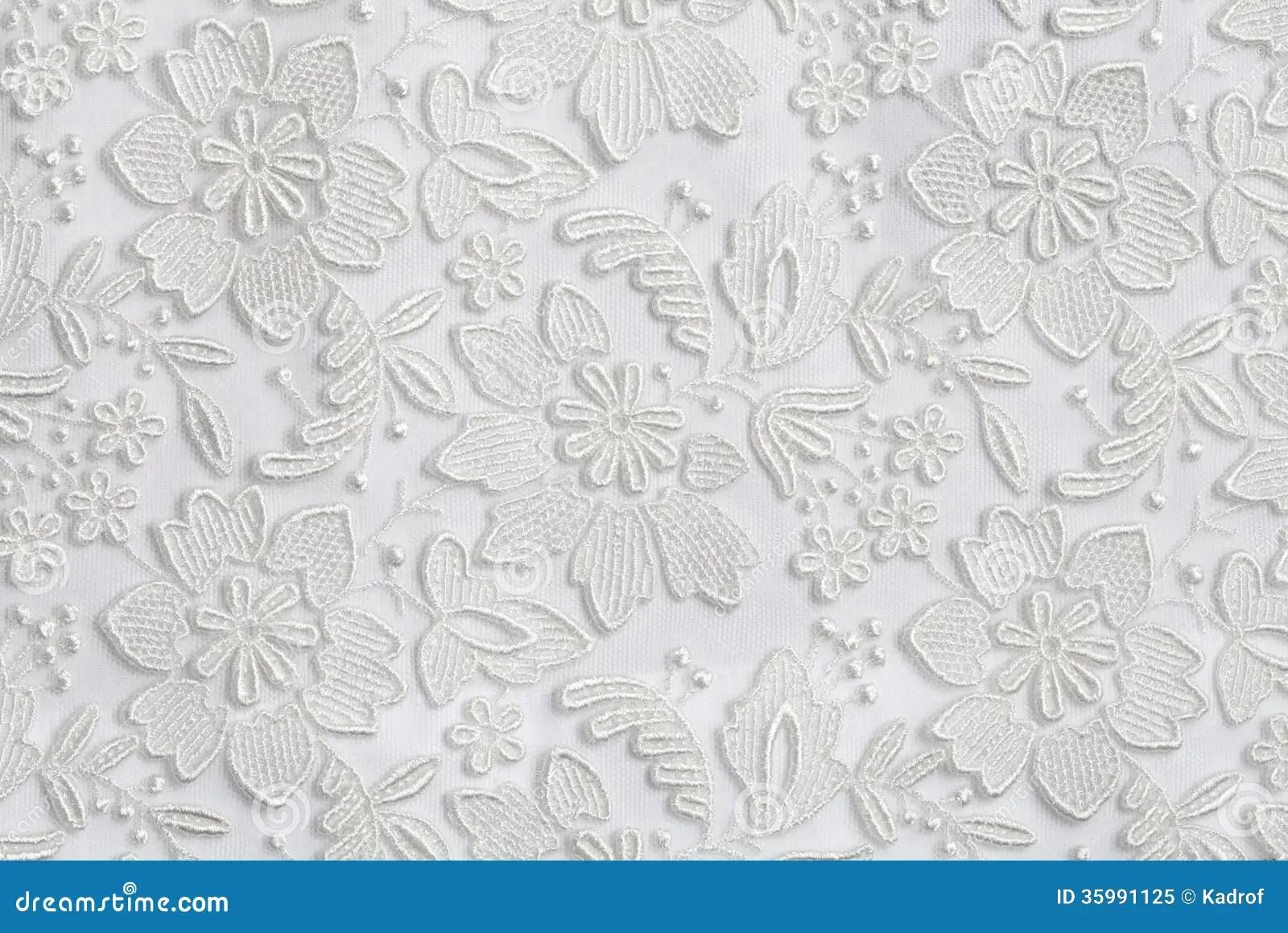 Fundo Floral Branco Da Textura Do Laco Imagem De Stock