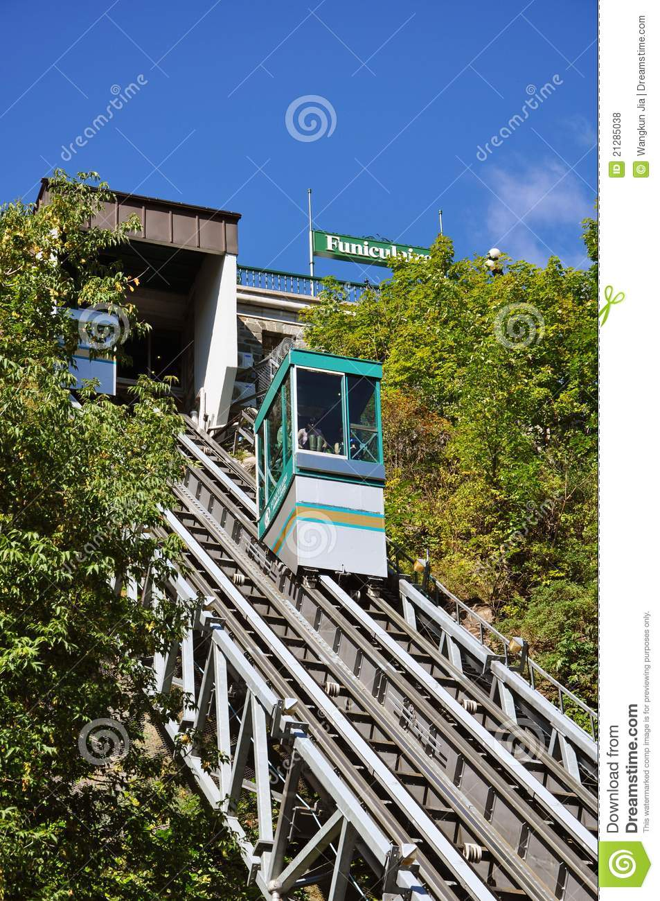 Funicular Of Old Quebec City Canada Editorial Stock Photo