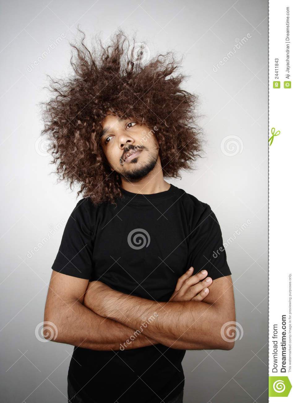 Funky Hairstyle Man Stock Image Image Of Hair Lazy