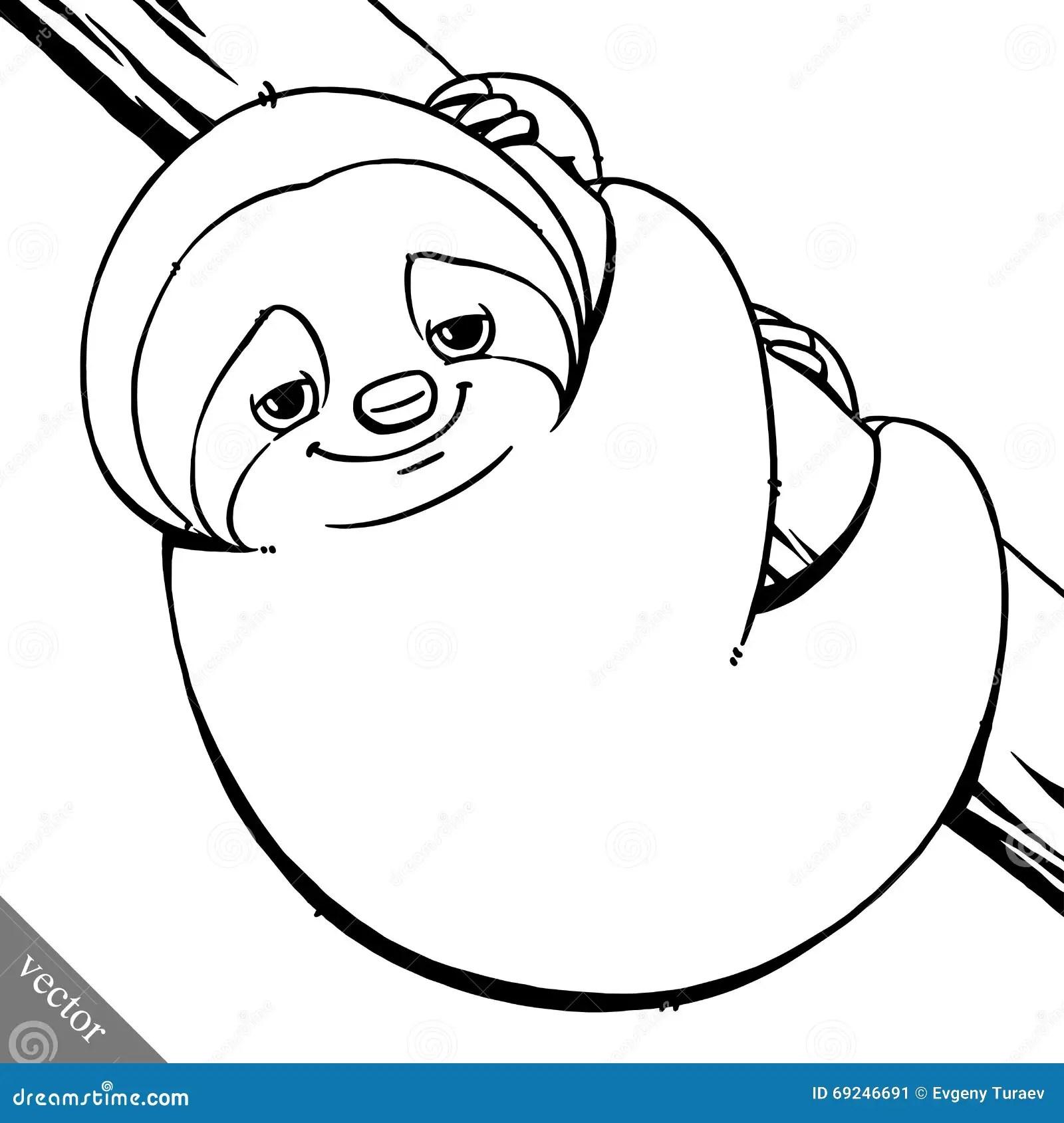 Cartoon Sloth Character Emoticon Stickers Cartoon Vector