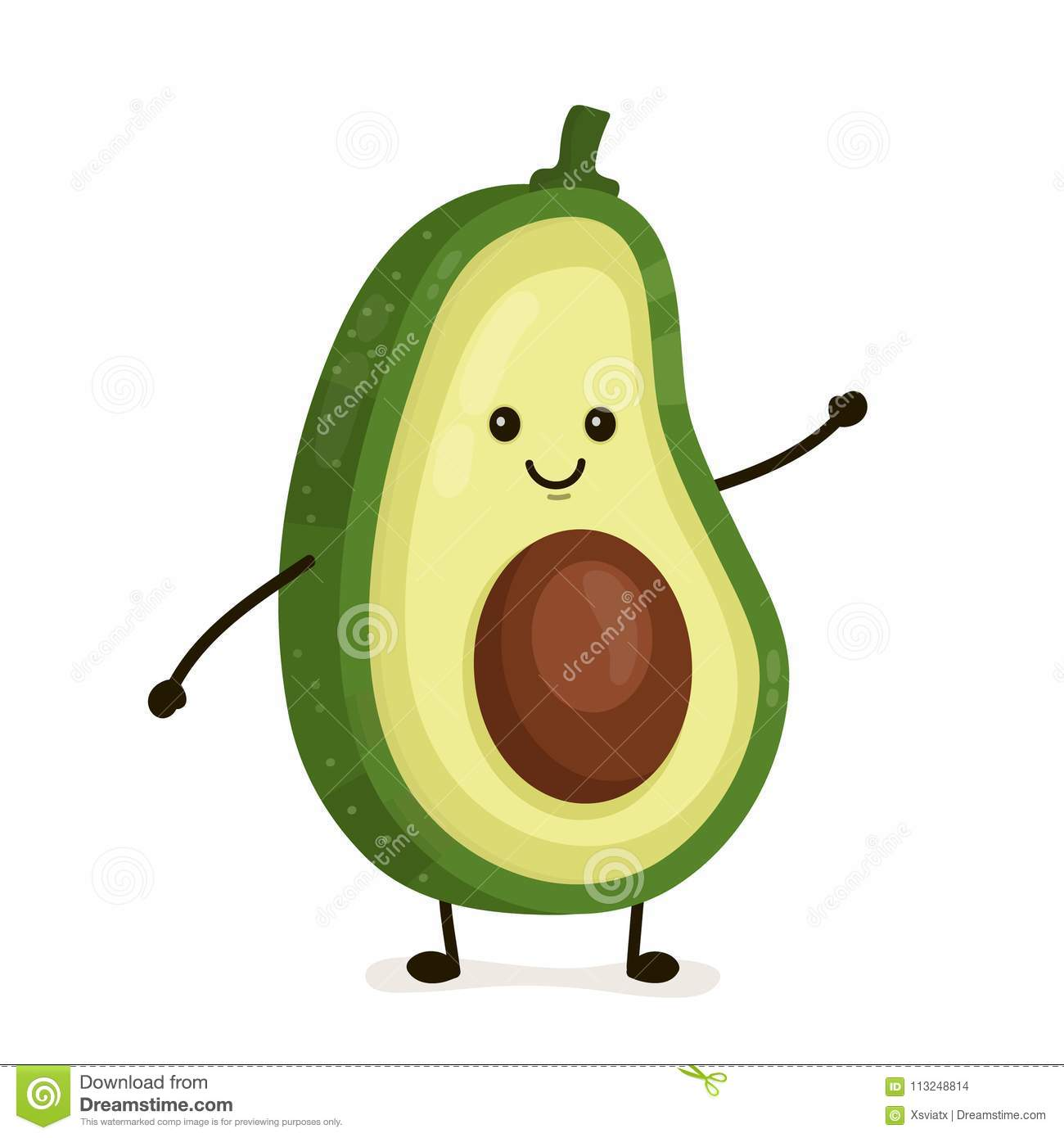 Avocado Cartoons Illustrations Amp Vector Stock Images