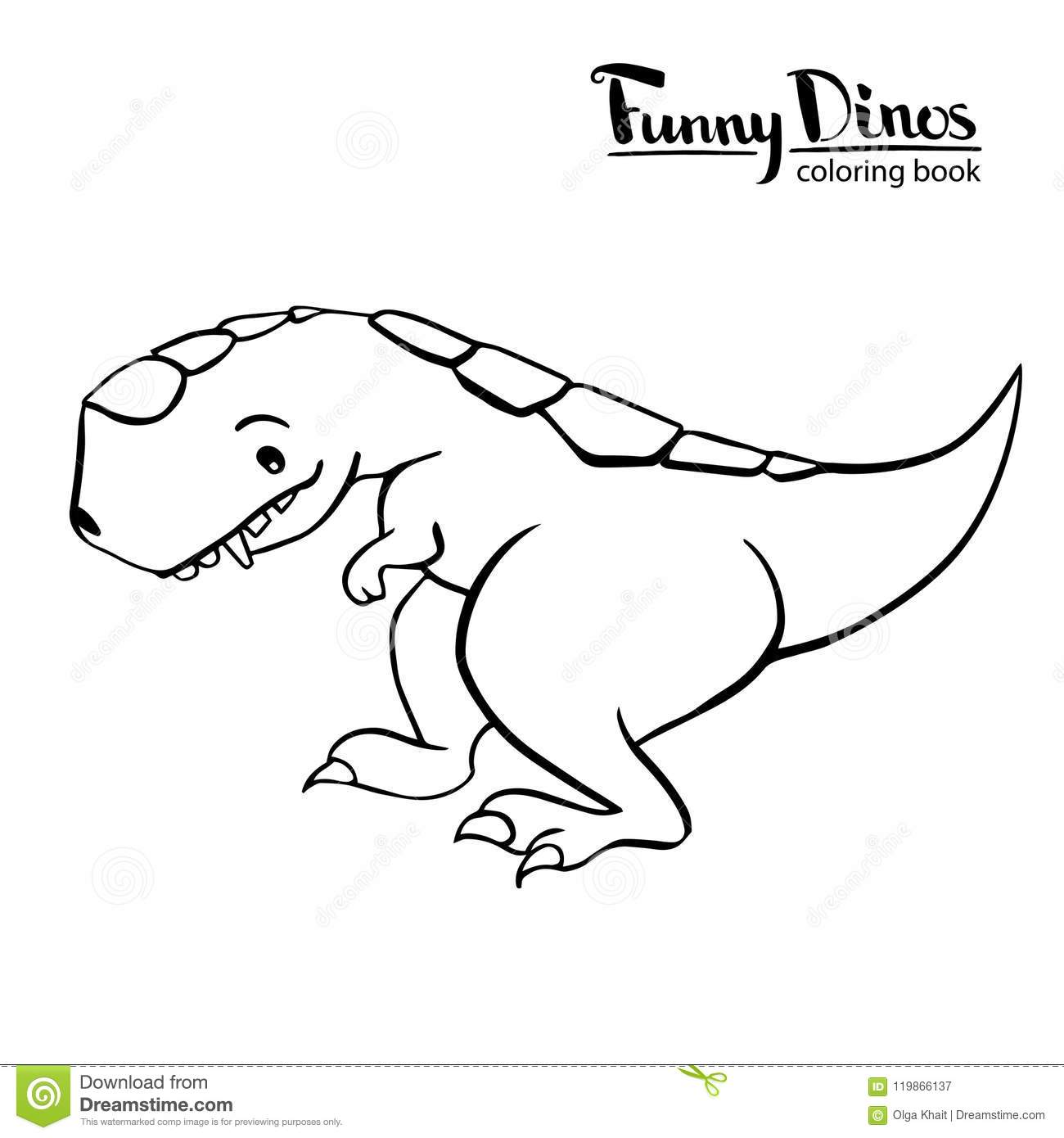 T Rex Dinosaur Black And White Stock Illustration