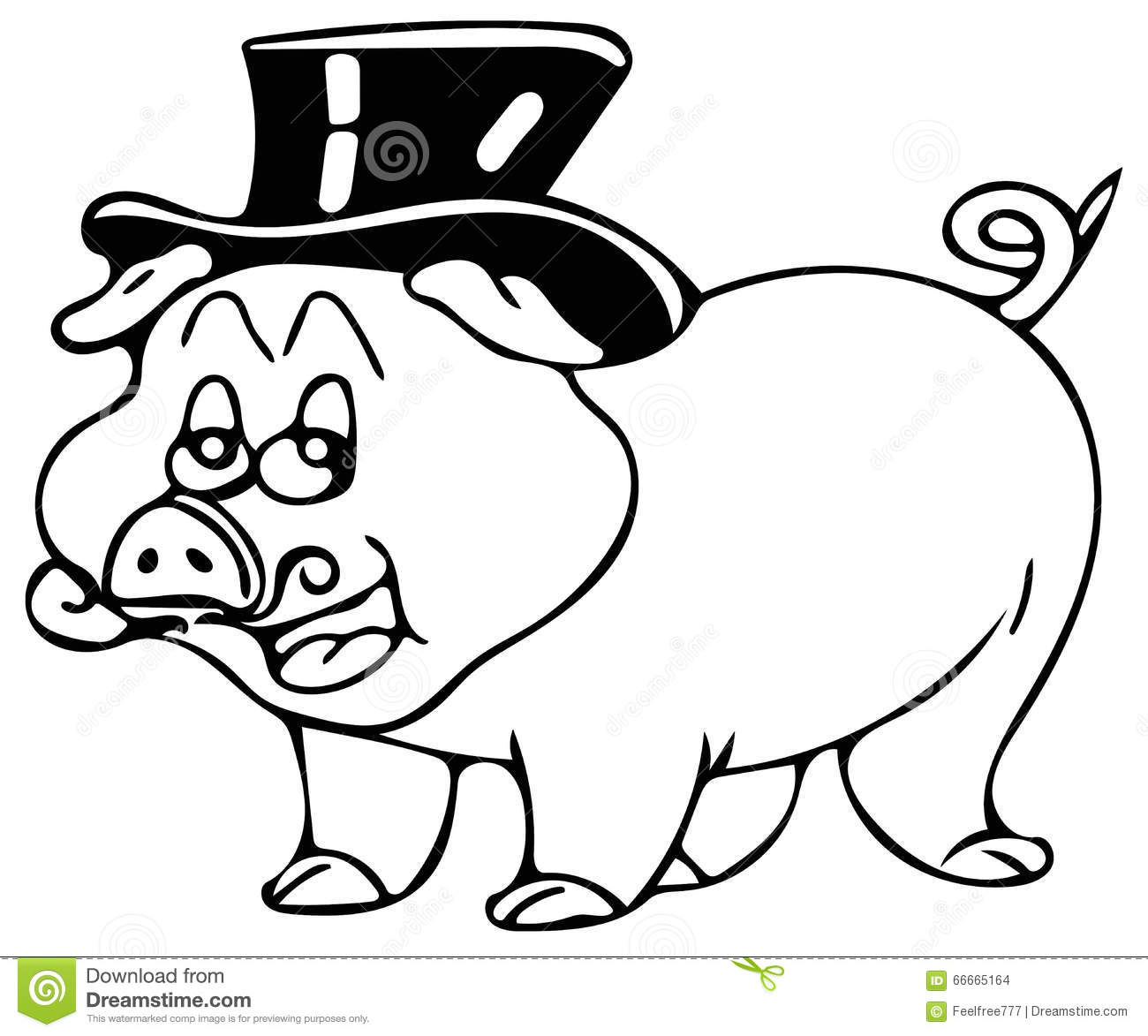 Funny Piglet Coloring Pages Stock Illustration