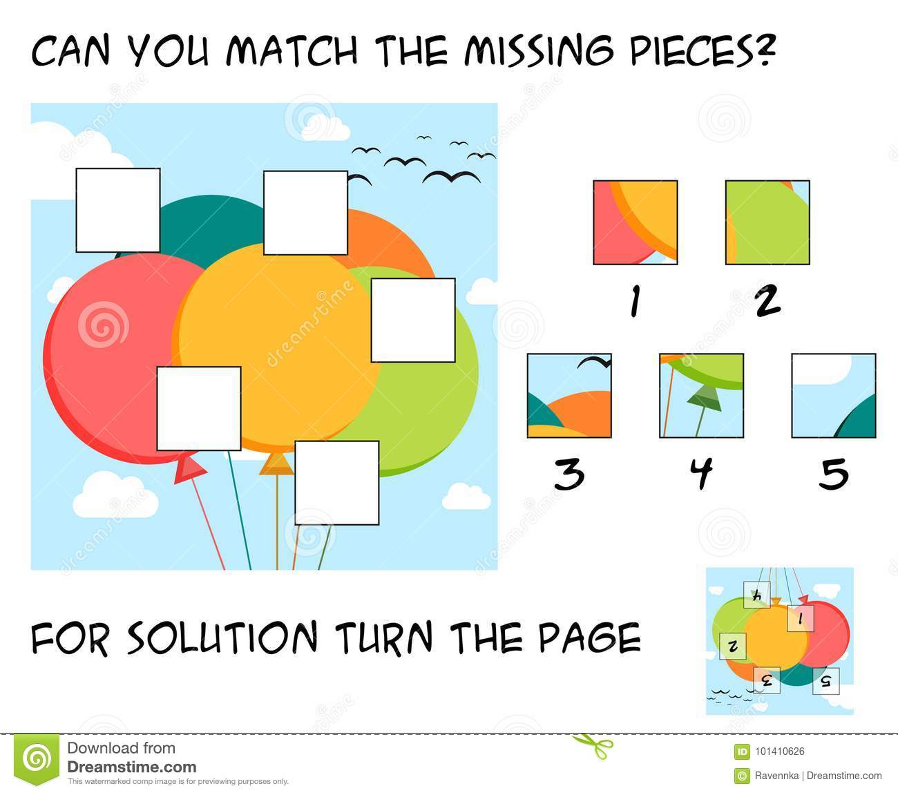 Missing Puzzle Piece Worksheet