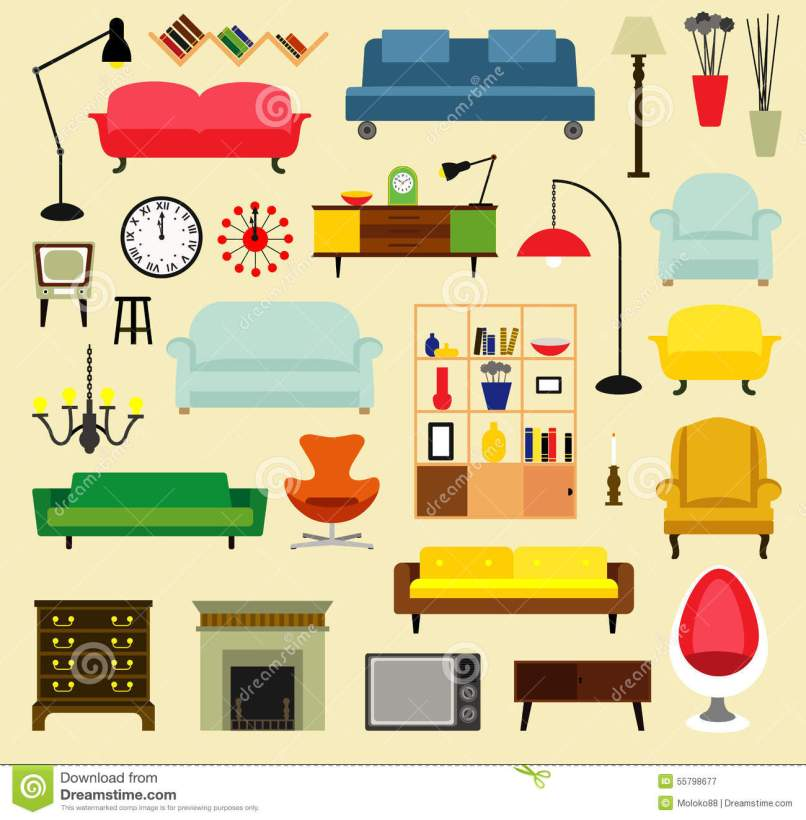 Furniture Ideas For Living Room Stock Vector Ilration Of