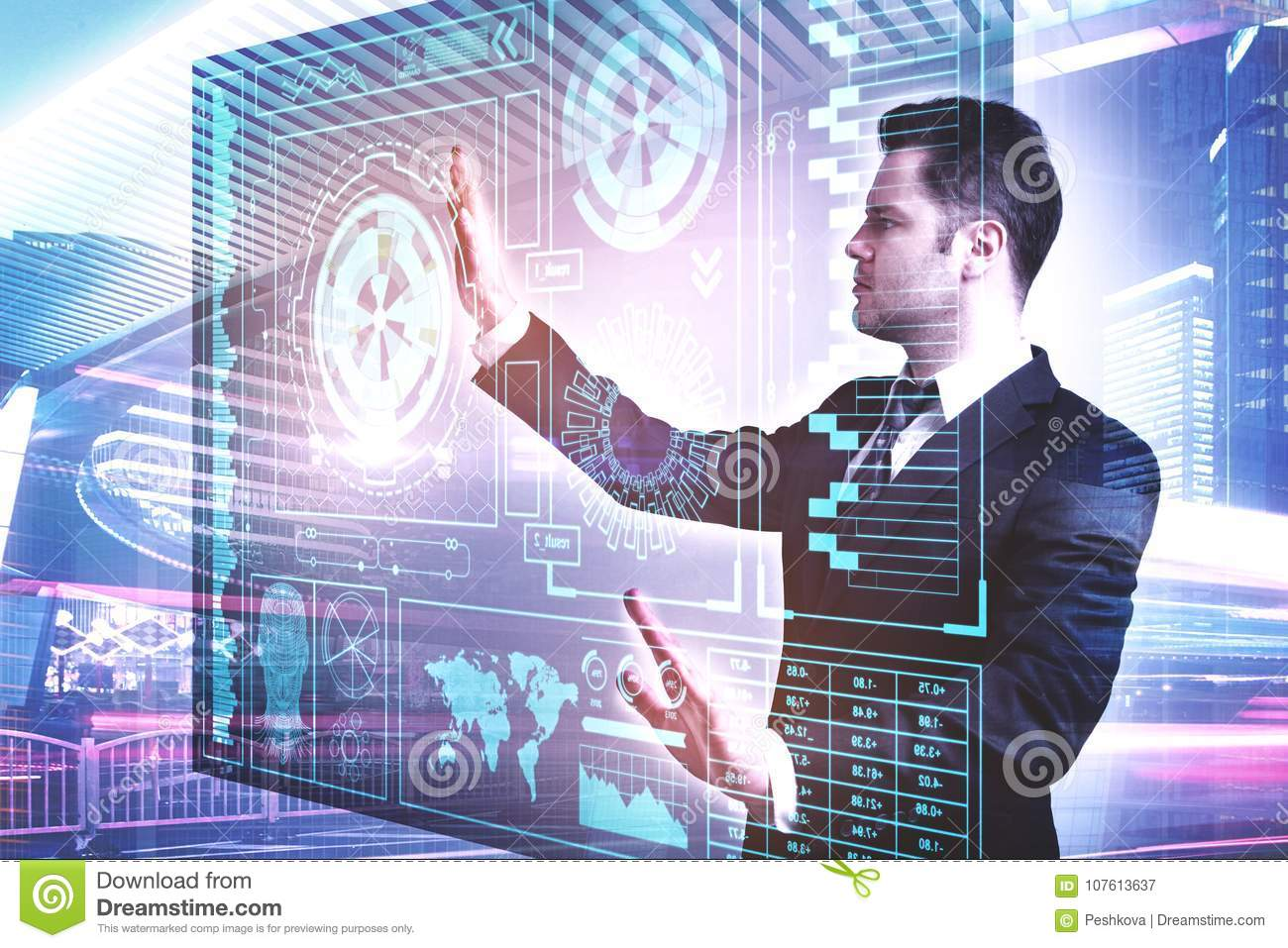 Future Communication And Infograph Concept Stock Image