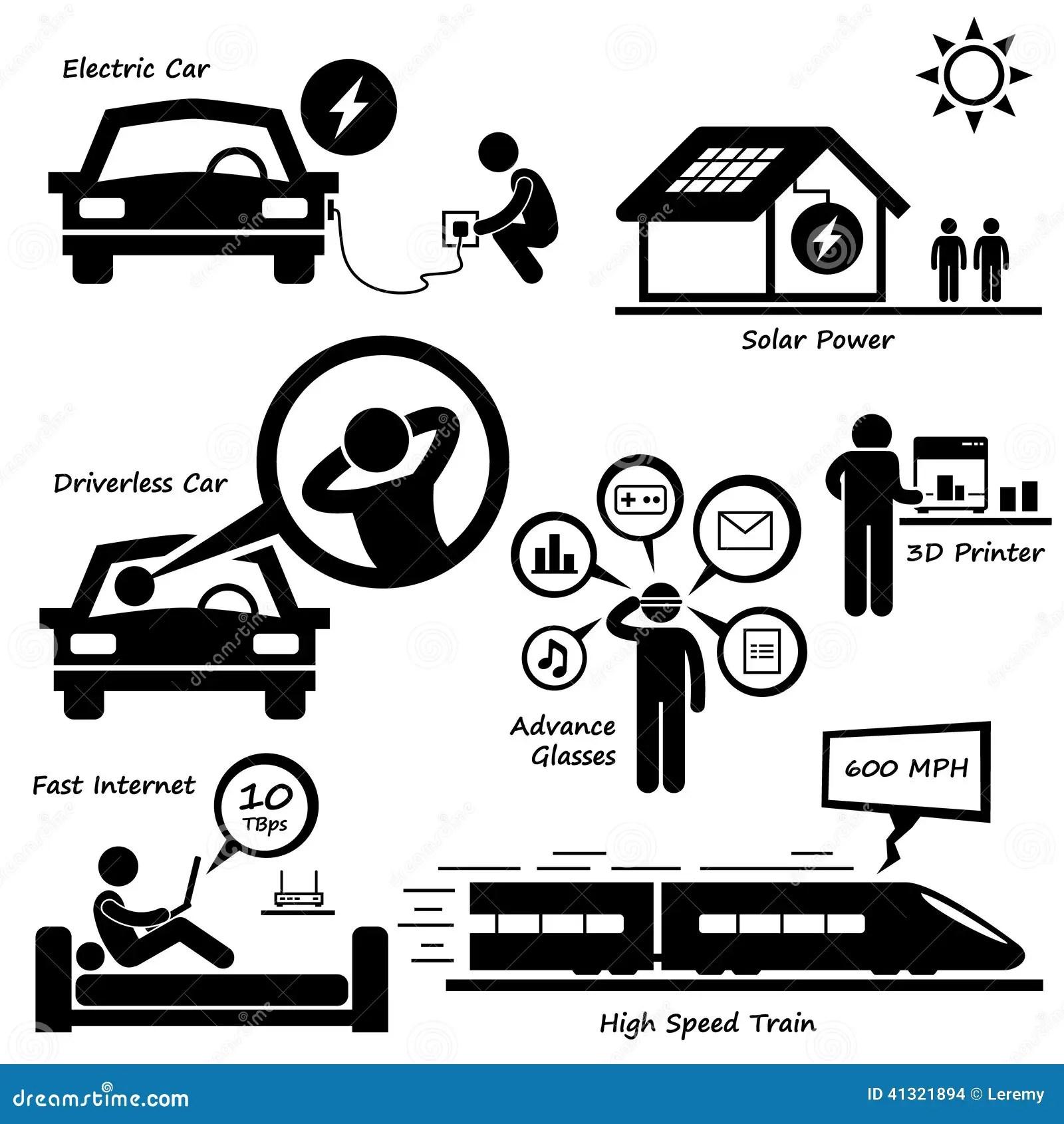Future Icone Cliparts De Technologie Illustration De