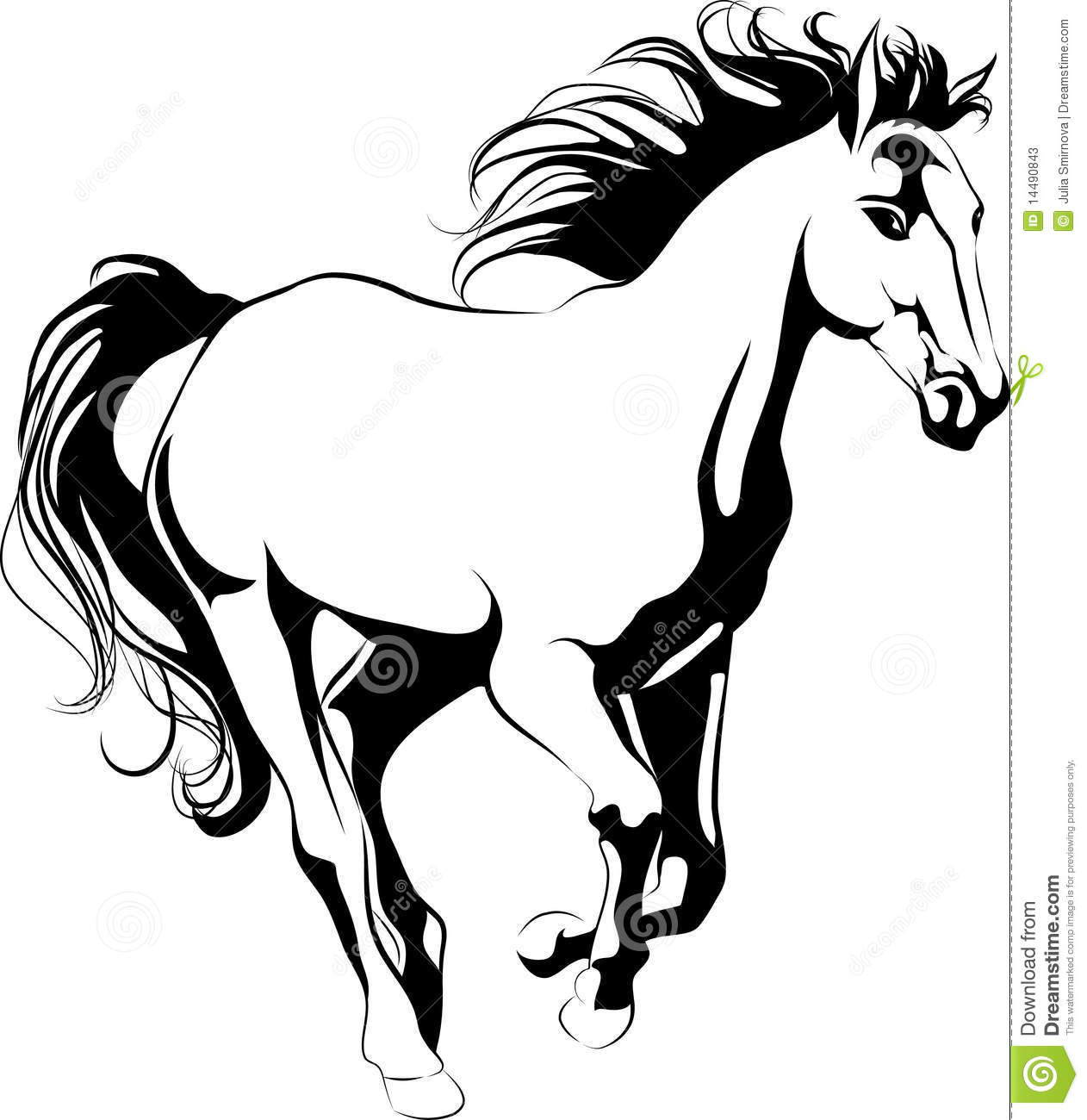 Galloping Horse Stock Vector Illustration Of Pony Speed