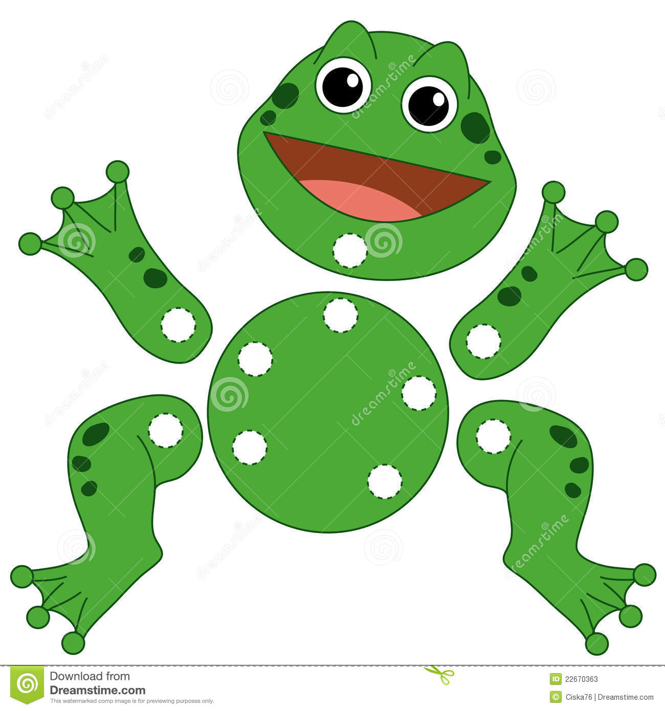 Game 135 The Frog To Be Cut Out Stock Illustration
