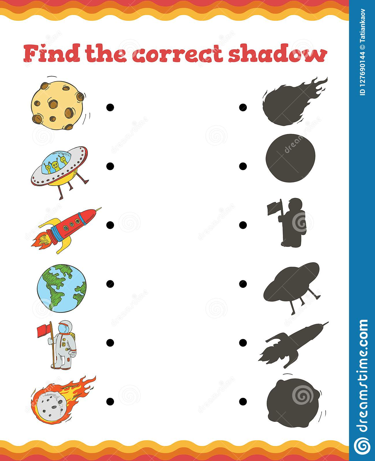Kindergarten Shadow Worksheet