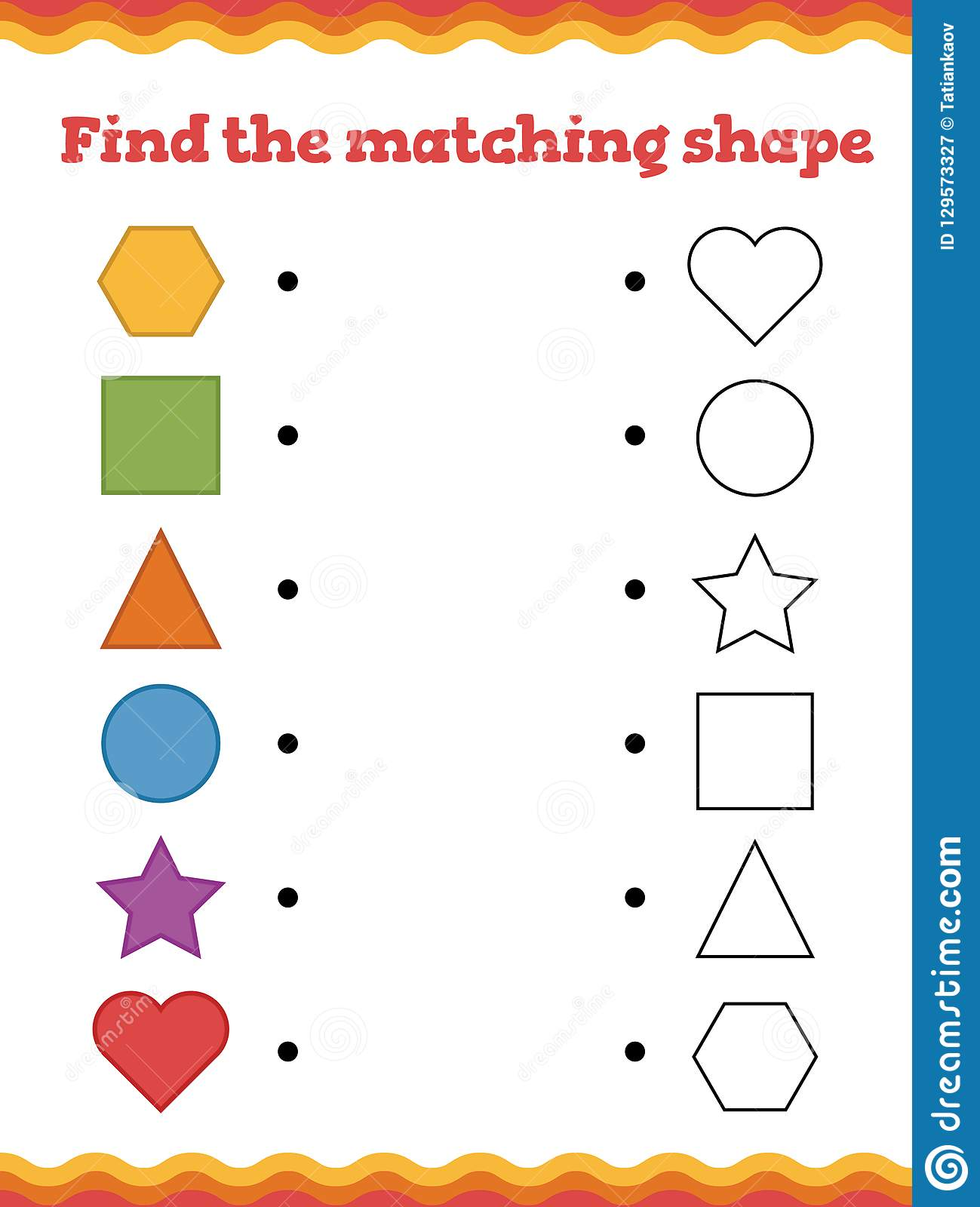 Game For Preschool Children Find The Matching Form