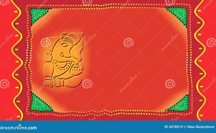 Ganesh On Invitation Card