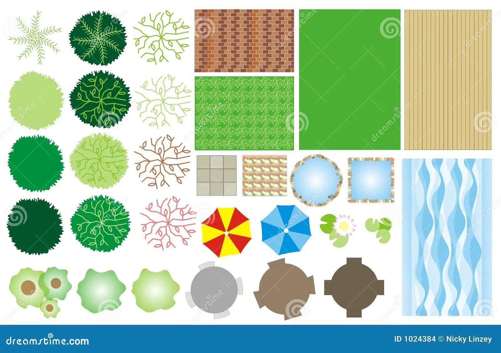 Garden Design Icons Stock Vector Illustration Of