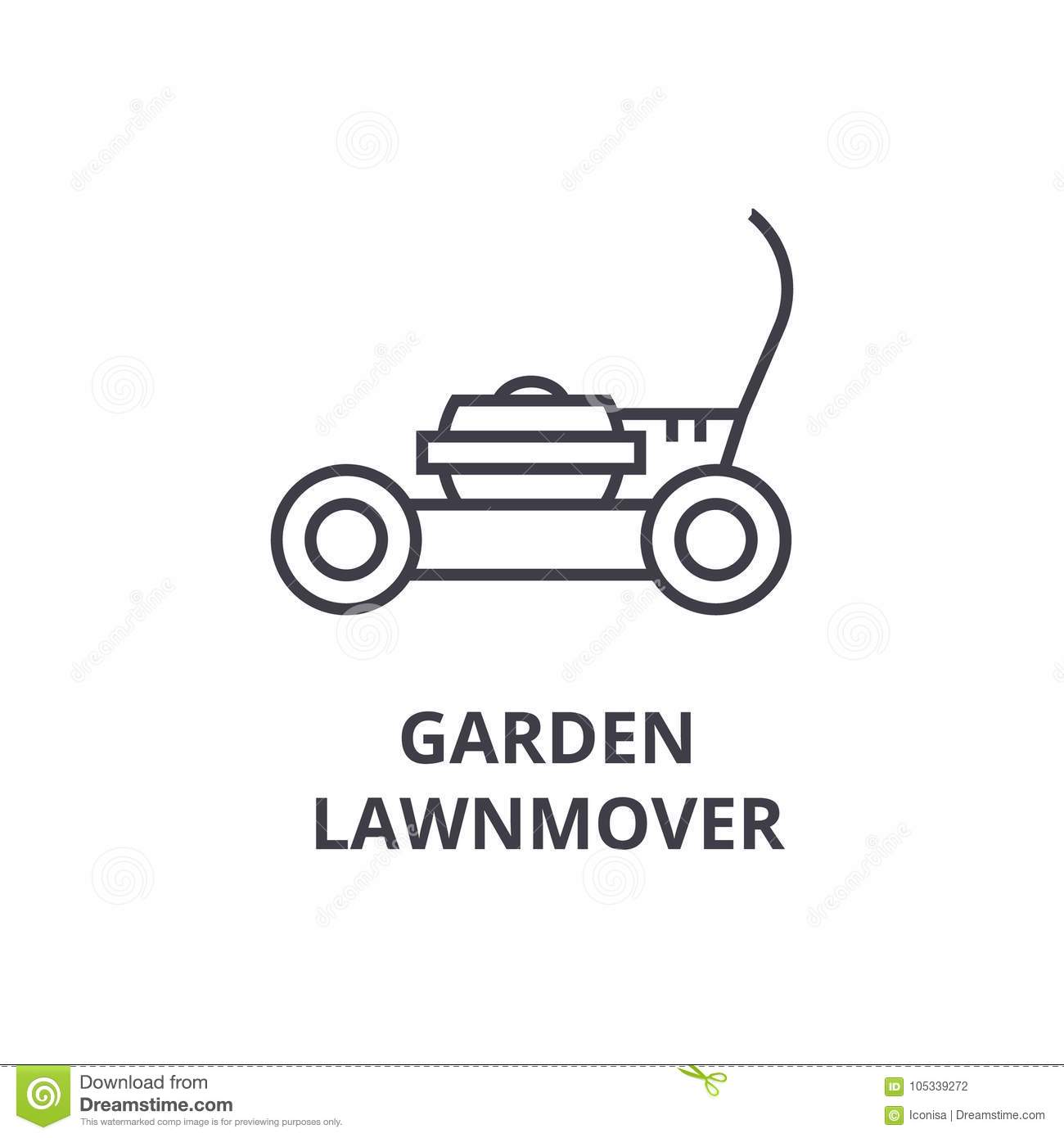 Lawn Mover Ready To Use Royalty Free Stock Image