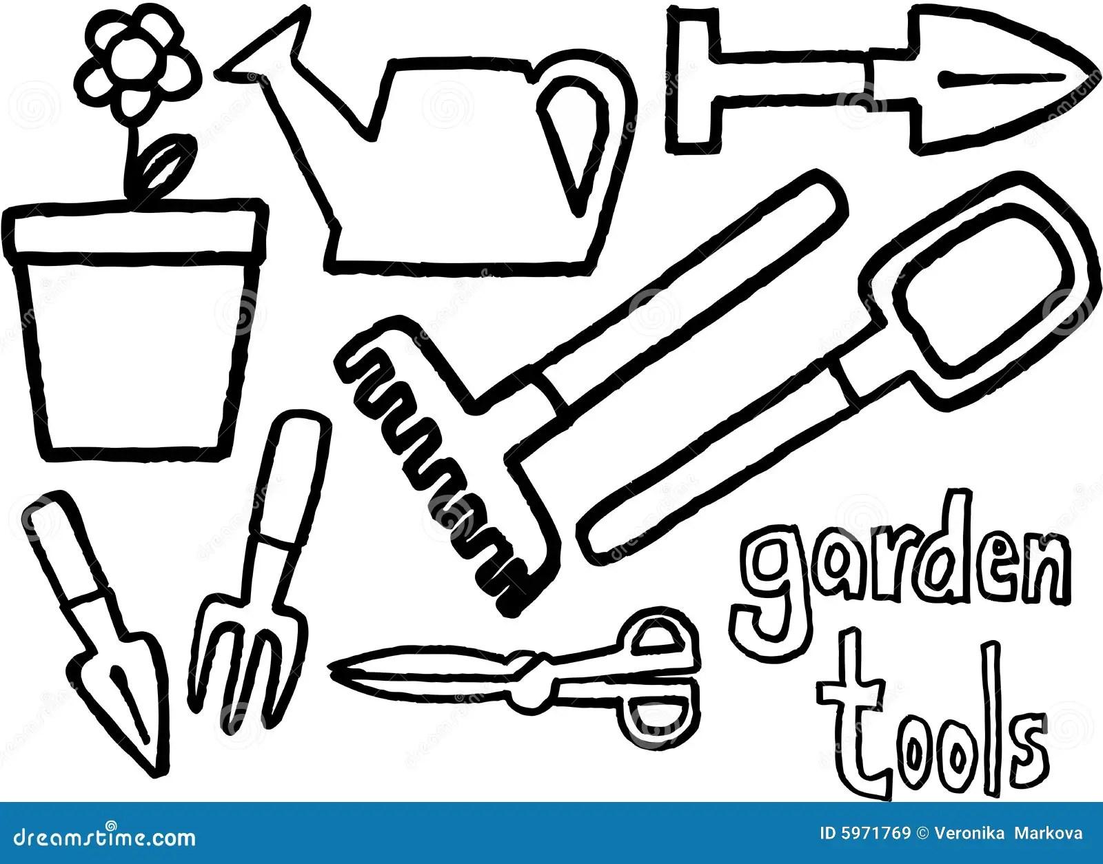 Garden Tools Stock Vector Illustration Of Illustration