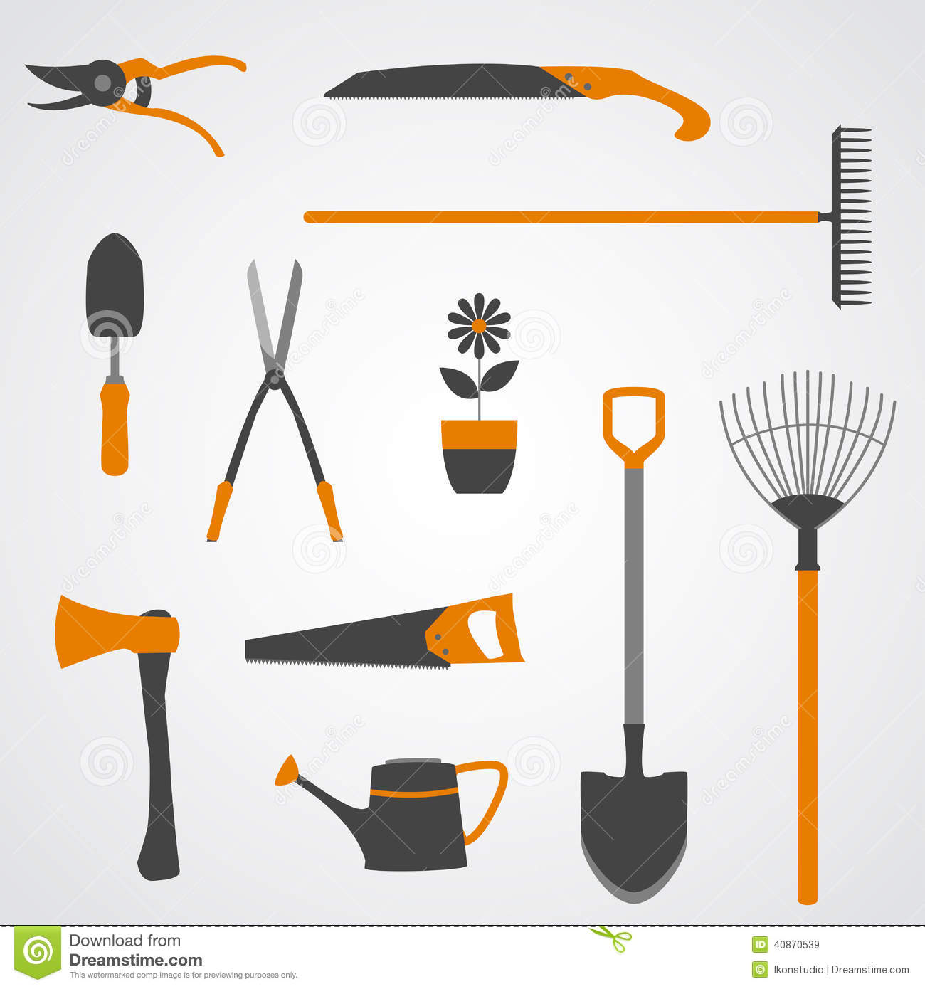 Garden Tools Icons Stock Vector Illustration Of Florist