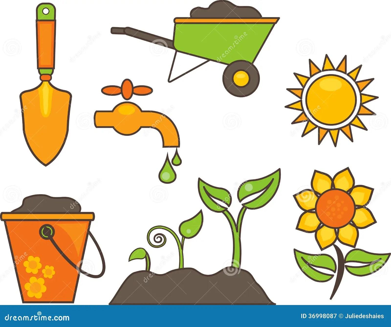 Gardening Equipment Illustration Royalty Free Stock