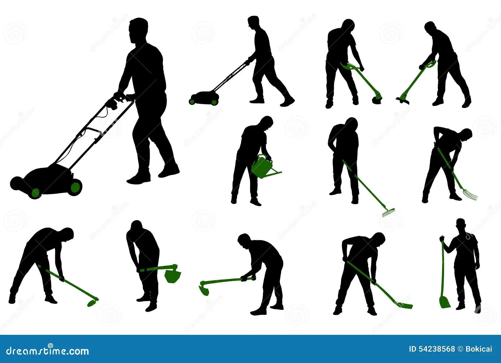 Gardening Work Vector Illustration