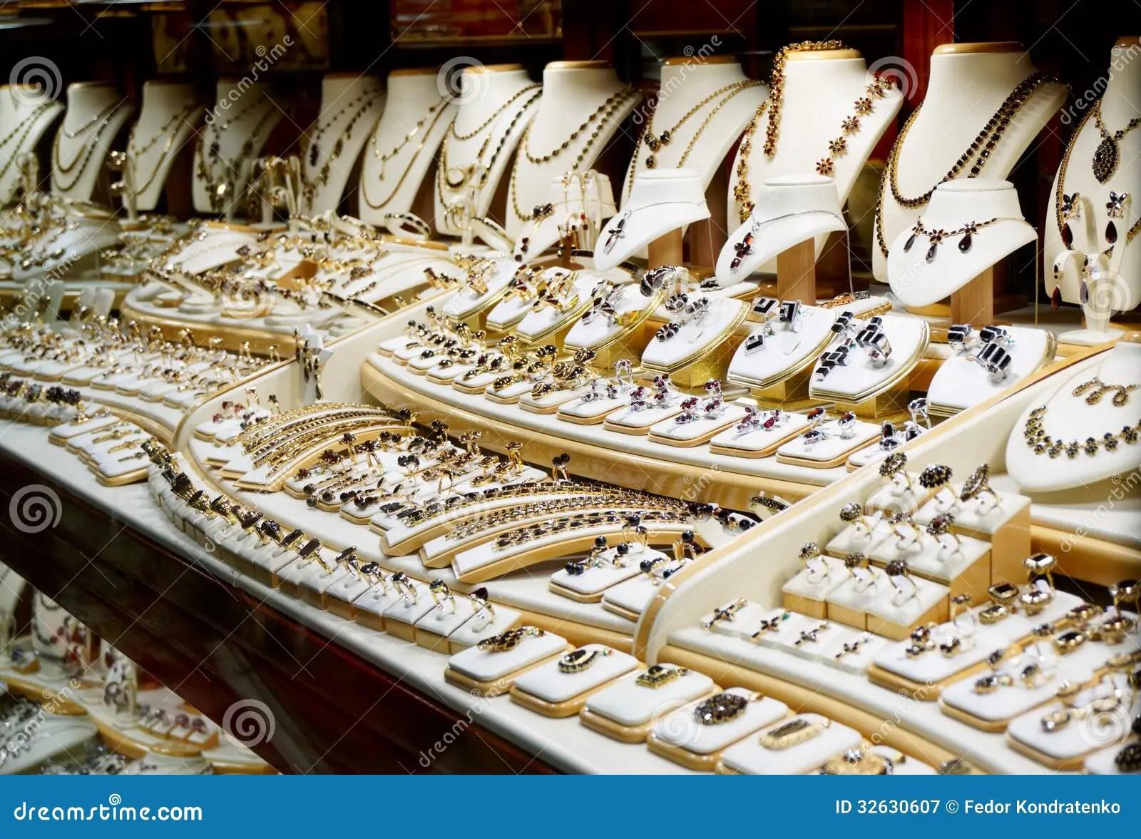 Garnet Jewelry Shop Royalty Free Stock Photography Image