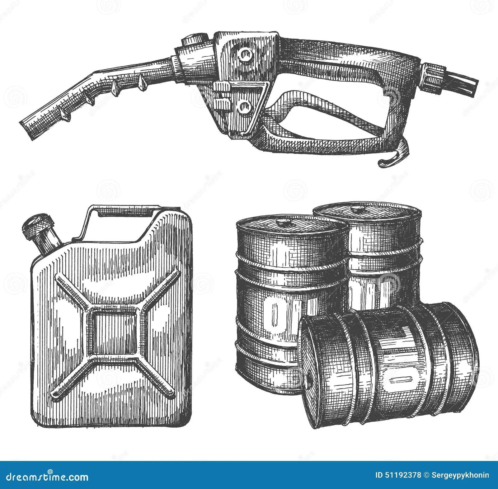 Gasoline Vector Logo Design Template Petroleum Or Stock